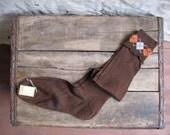 vintage 1950s deadstock NOS knee socks // ARGYLE