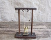 vintage 1930s toy // swinging celluloid orangutan monkey Japan