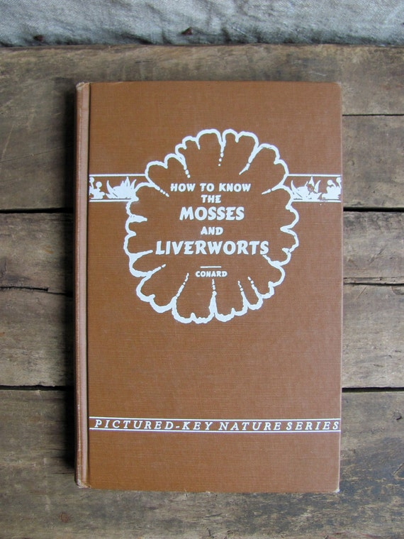 vintage 1950s botanical reference book // Mosses and Liverworts