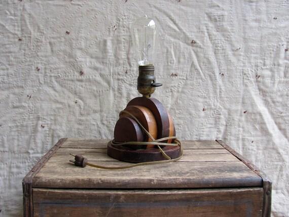 vintage c. 1920s-1930s Art Deco style lamp // WOOD SHOP