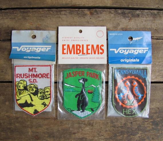 vintage c. 1970s-1980s NOS souvenir patch // JASPER PARK (last one)
