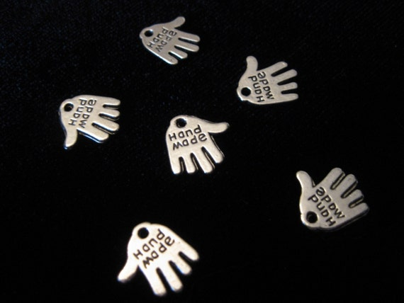 HANDMADE Tags for your handmade items in SILVER