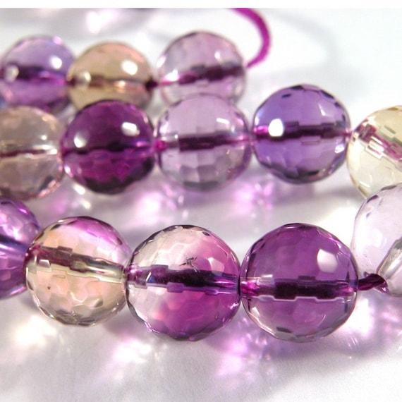 10mm Ametrine Glass Crystal Round (10)