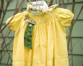 Scout Dress. Hand Dyed and Reworked with Vintage detailing size 3-6mo