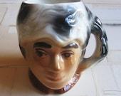 vintage davy crockett ceramic mug
