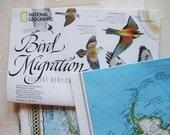 three vintage maps