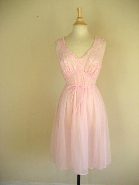 Vintage Pink Baby Doll Style Nightgown