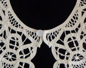 BATTENBURG LACE COLLAR Ivory Hand Made Cotton New Tape Lace