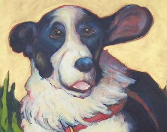 24x36 in. custom pet portrait