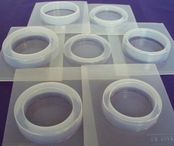 Set of 7 reusable bangle molds for resin jewelry making