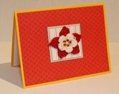 Flower Greeting Card Hand-crocheted