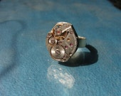 One of a Kind, Silver, Watch Gear RIng