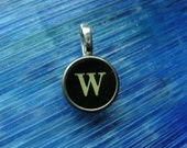 Vintage typewriter key charm You choose the letter