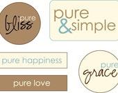 Pure Phrases Little Labels
