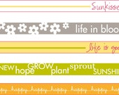 Sunkissed Word Strips Iron On Labels