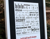 Custom Christmas Word Print