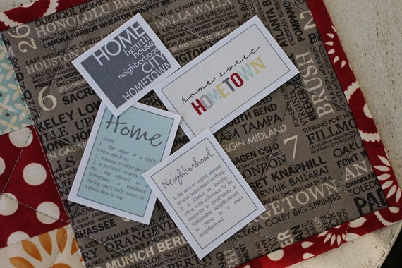 Hometown Fabric Labels