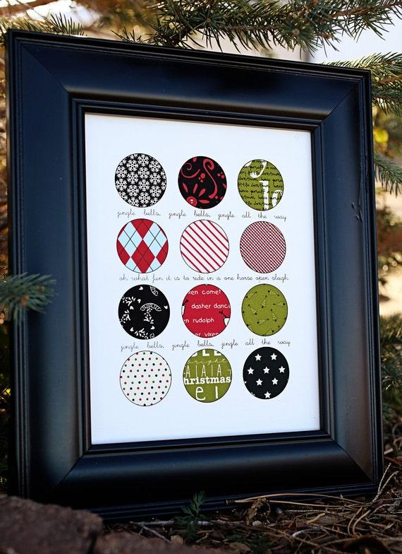 Christmas Circle Print