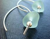 Genuine Sea Glass Hook Earrings