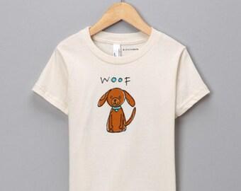 Organic Cotton Kid's Puppy Tshirt