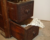 Vintage Wood Drawers with Tier Tray