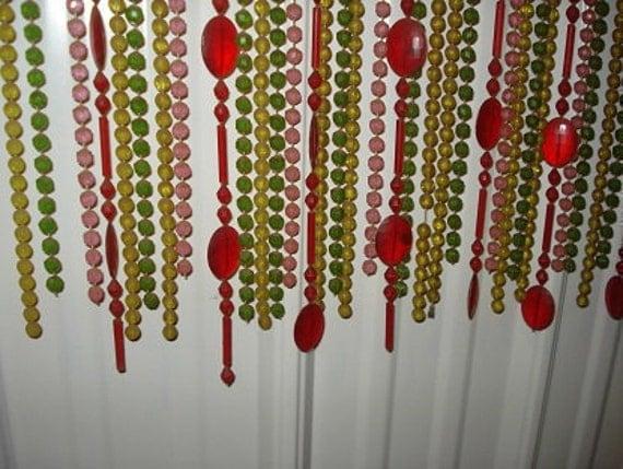vintage bead door curtain groovy retro b