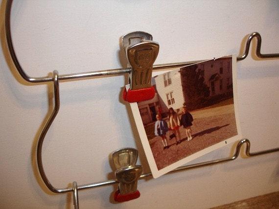 Reserved for Sarah Vintage Metal Clip Hanger Rack Organizer