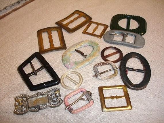 Vintage Belt Bucket Lot