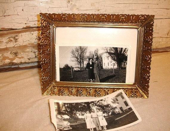 Vintage Gold Filigree Picture Frame    j