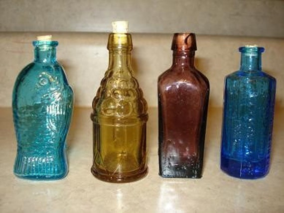 Small colored glass bottles sale sale sale for Small colored glass jars