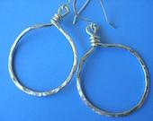 Sterling Silver Moon Hoop Earrings