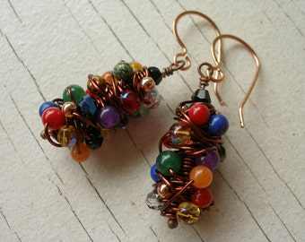 Tornado Copper Earrings