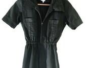 VINTAGE 1980s Black length jumpsuit S
