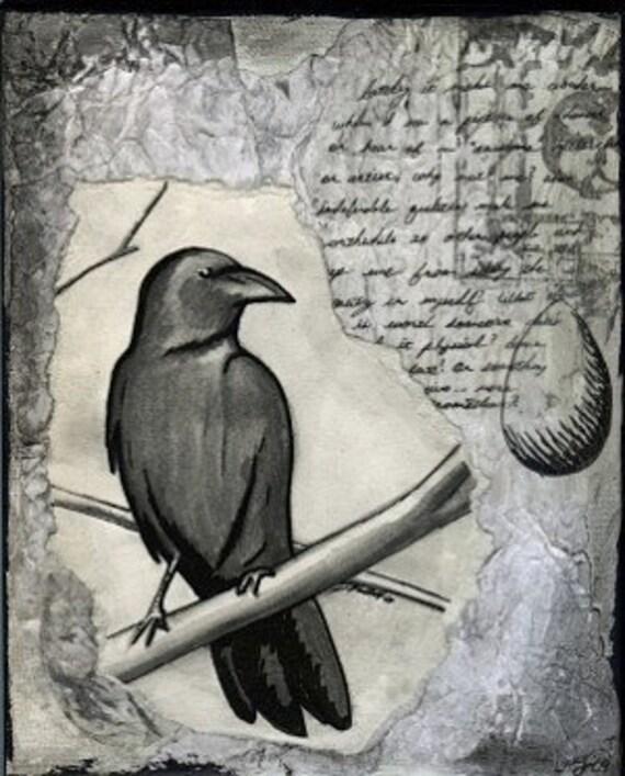 Concrete Raven ACEO