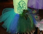 Reserved listing for Megan82- infant peacock costume