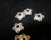 Silver filigree flower beadcaps, 12mm (50)   Team ESST, olyteam,  paganteam, WWWG, CouchSurfingTeam