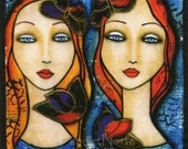 Sisters, Fabric Panel