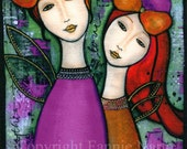 My Mother, My Daughter 2, Fabric Panel