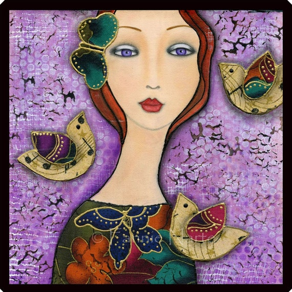 Violet Eyes, Fabric Panel, Small