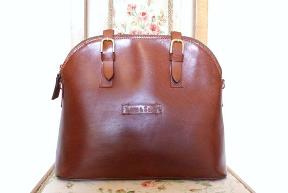 Ladylike Dark Chocolate Brown Leather Satchel Handbag
