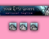 Night Owl Etsy Banner and 3 Avatars Set