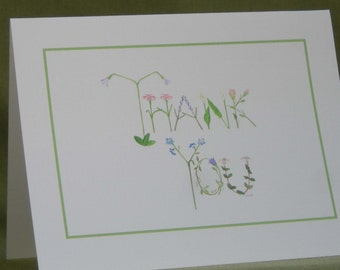 Floral Thank You Card Set with Envelopes
