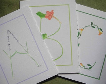 Monogram Notecards - Sets of 4 with Envelopes