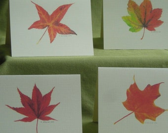 Autumn Leaves Notecard Set with Envelopes