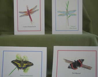 Butterflies and Dragonflies - Notecard Set with Envelopes