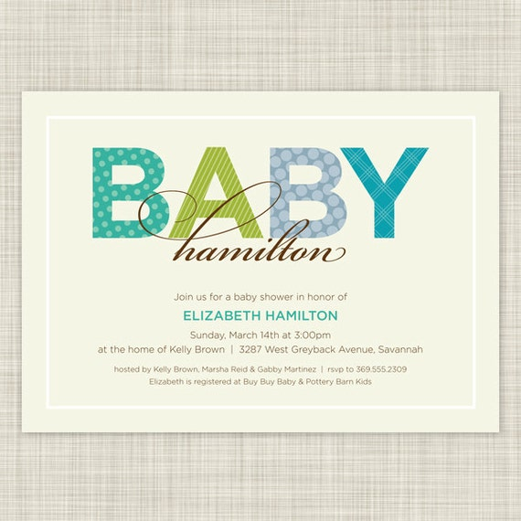 baby shower invitations baby shower invites sweetly named on etsy