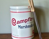 Vintage Campfire Marshmallow tin for storage, organizing collecting
