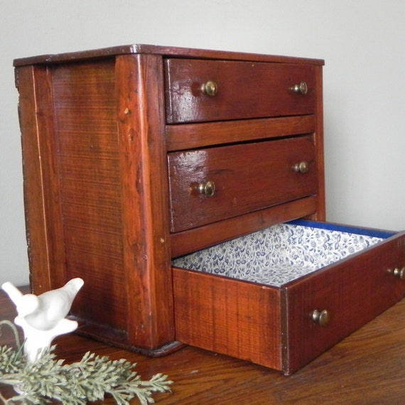 Vintage three drawer chest bureau with awesome details