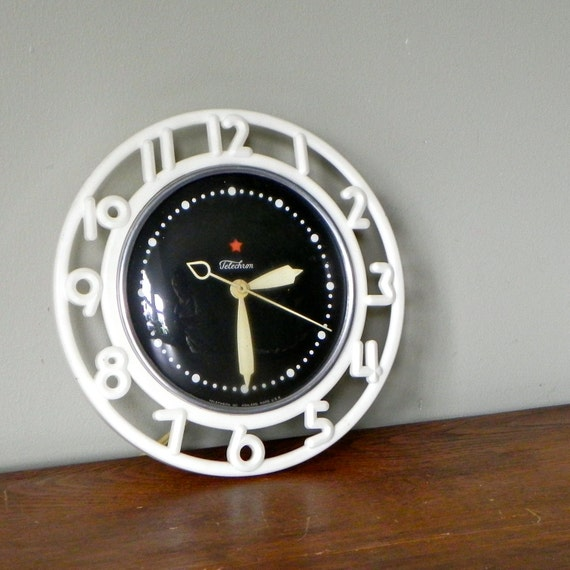 Black and white kitchen wall clock graphic by jollytimeone - Black and white kitchen clock ...