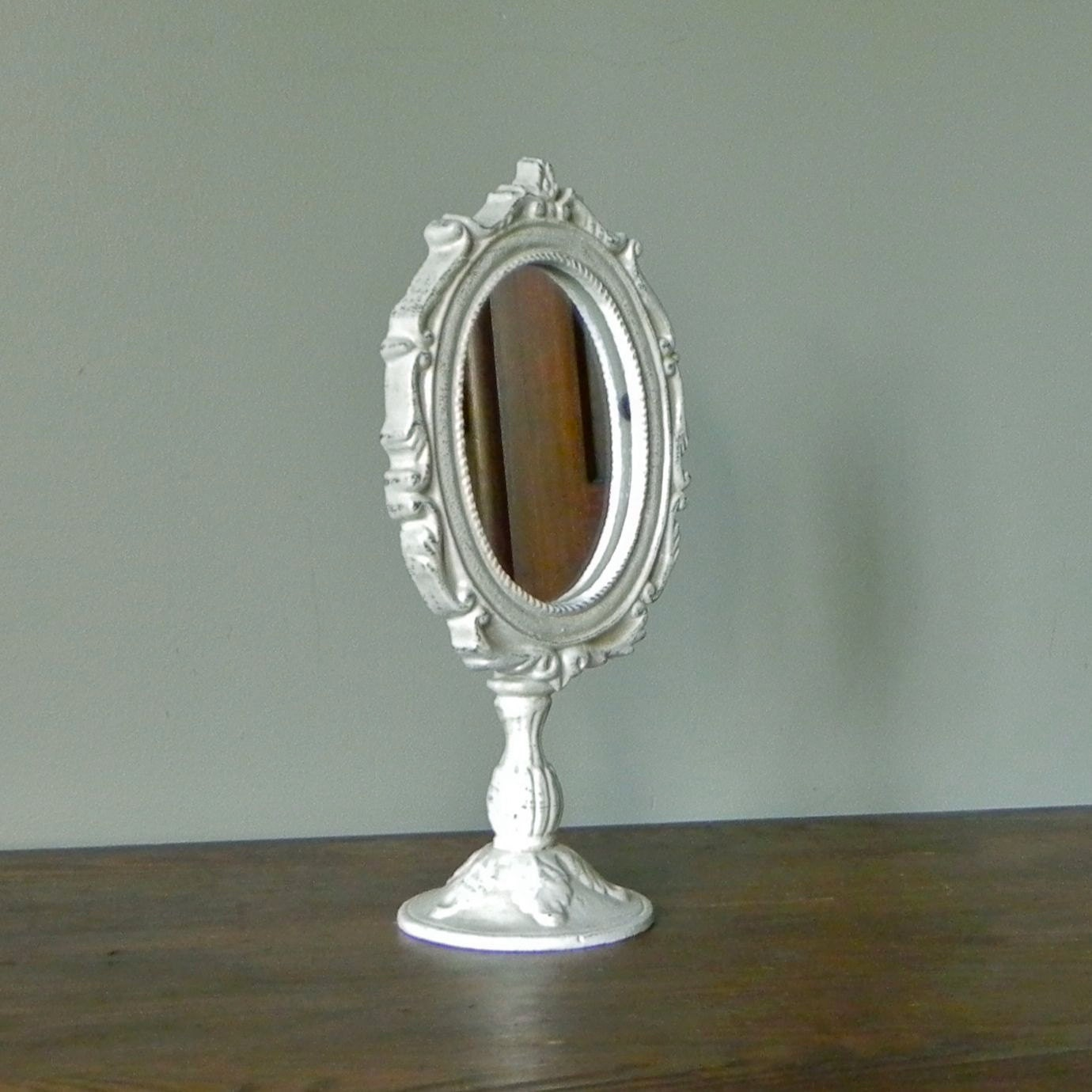 Vintage mirror on a stand fancy shaving mirror for Mirror stand